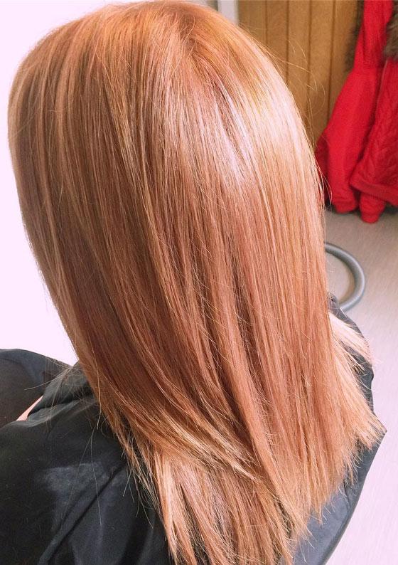 blond cuivré sur blonde
