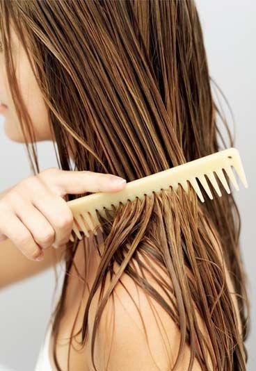 coiffer cheveux peigne en corne